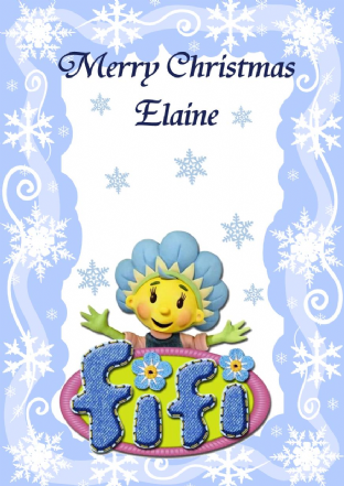 Personalised Fifi and the Flowertots Christmas Card